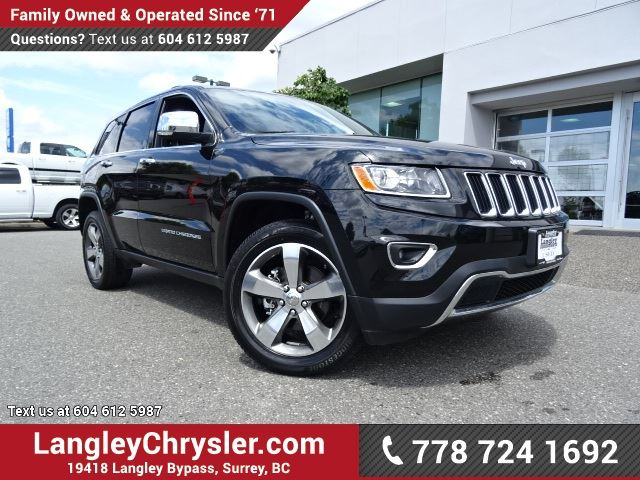 2016 JEEP GRAND CHEROKEE Limited ACCIDENT FREE w/ 4X4, LEATHER UPHOLSTERY & REAR-VIEW CAMERA in Surrey, British Columbia