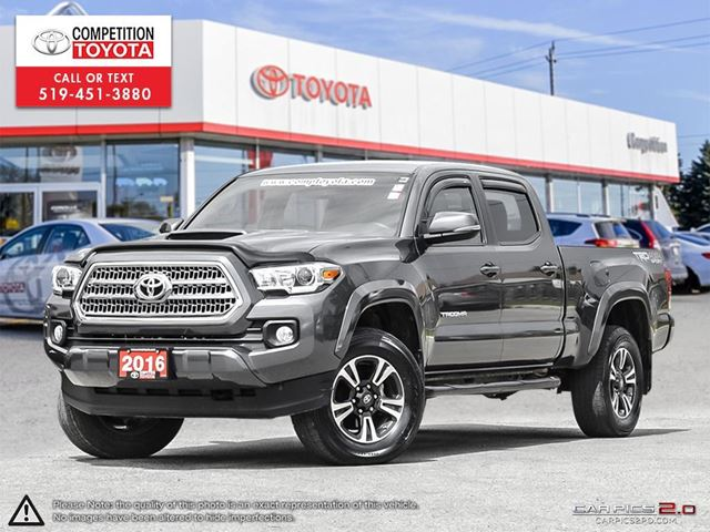 2016 TOYOTA Tacoma SR5 TRD SPORT, Toyota Certified, One Owner, No Accidents, Toyota Serviced in London, Ontario