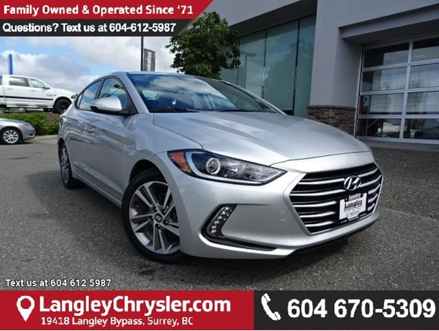 2017 HYUNDAI ELANTRA GLS ACCIDENT FREE W/SUNROOF & SAFETY REAR CAMERA in Surrey, British Columbia