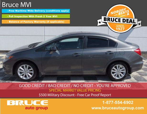 2012 HONDA CIVIC EX 1.8L 4 CYL i-VTEC 5 SPD MANUAL FWD 4D SEDAN in Middleton, Nova Scotia