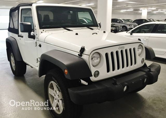 2016 JEEP WRANGLER 4WD 2dr Sport in Vancouver, British Columbia