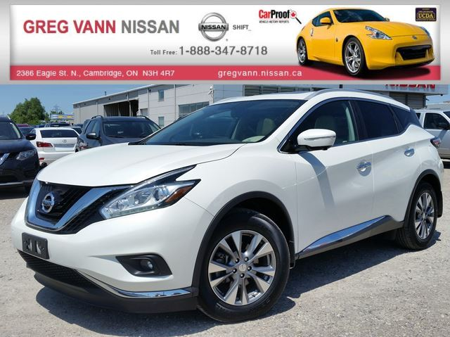 2015 Nissan Murano SL AWD w/NAV,all leather,pwr group,rear cam,climate control,panoramic roof in Cambridge, Ontario