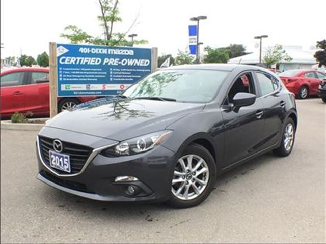 2015 MAZDA MAZDA3 Sport GS, MANUAL, REAR-VIEW CAM, NAV READY in Mississauga, Ontario