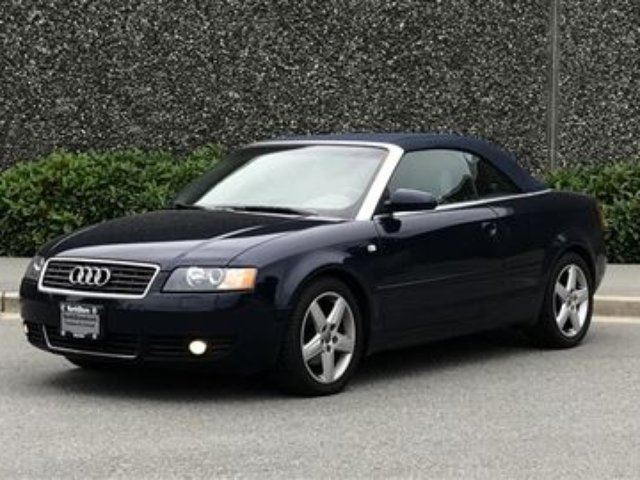2004 Audi A4 1.8T Cab Multritronic at CVT Frtk LOW KMS! in North Vancouver, British Columbia