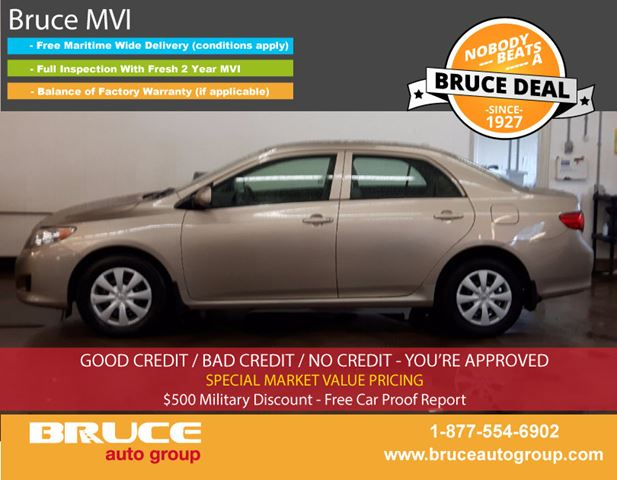 2009 Toyota Corolla CE 1.8L 4 CYL AUTOMATIC FWD 4D SEDAN in Middleton, Nova Scotia