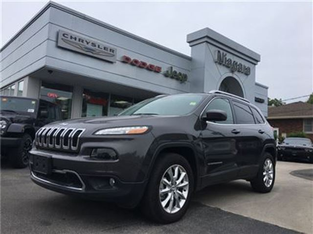 2016 JEEP CHEROKEE LIMITED,4X4,ALLOYS,LEATHER,HTD SEATS in Niagara Falls, Ontario