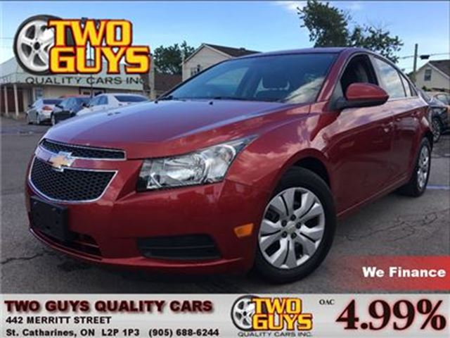 2012 Chevrolet Cruze LT Turbo CRUISE CONTROL in St Catharines, Ontario