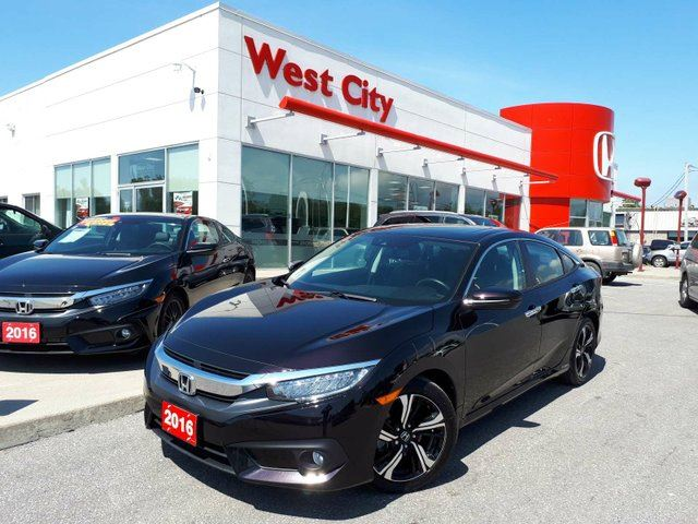 2016 Honda Civic TOURING, LEATHER,GARMIN GPS! in Belleville, Ontario