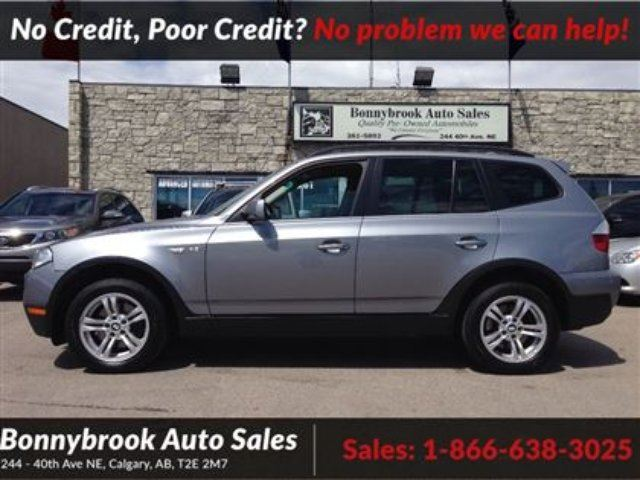 2007 BMW X3 3.0i AWD LEATHER HEATED SEATS P/SUNROOF in Calgary, Alberta