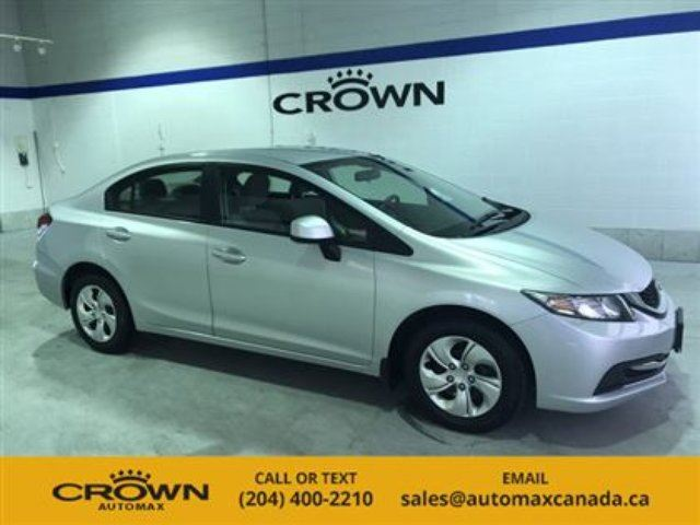 2013 Honda Civic LX *Heated Seats/Bluetooth* in Winnipeg, Manitoba