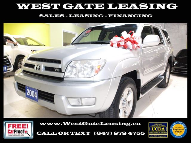 2004 Toyota 4Runner LIMITED V8  LEATHER  CERTIFIED  in Vaughan, Ontario