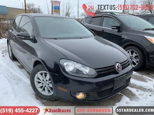 2012 VOLKSWAGEN GOLF SPORTLINE   SUNROOF   ALLOYS   SAT RADIO in London, Ontario