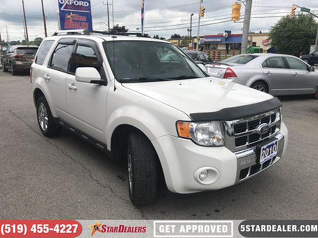 2010 FORD ESCAPE LIMITED   4X4   LEATHER   SUNROOF   SAT RADIO in London, Ontario