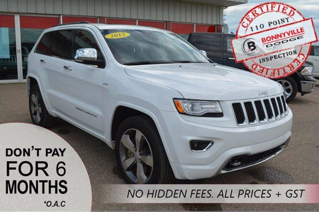 2015 JEEP GRAND CHEROKEE OVERLAND, UNDER 20,000KMS, GREAT CONDITION in Bonnyville, Alberta