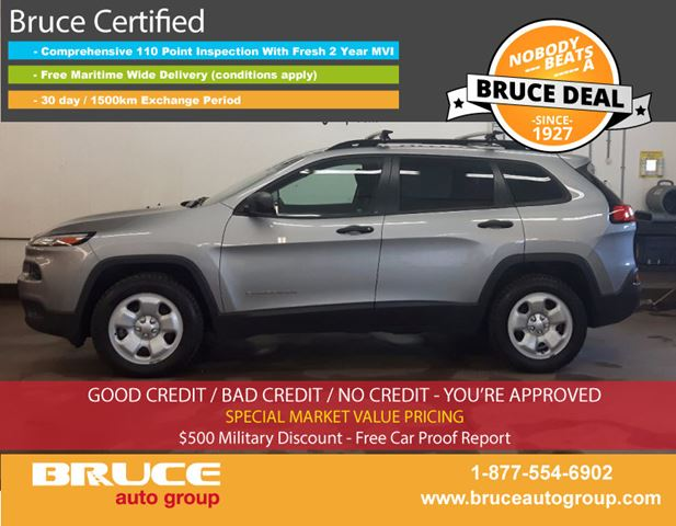 2014 JEEP CHEROKEE SPORT 2.4L 4 CYL AUTOMATIC 4WD in Middleton, Nova Scotia