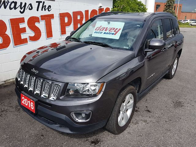 2016 JEEP COMPASS Sport/North HIGH ALLTITUDE PKG!  SUNROOF, LEATHER INTERIOR in Oshawa, Ontario