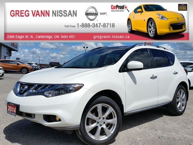 2014 Nissan Murano Platinum AWD w/all leather,NAV,pan roof,climate,heatedseats,rear cam in Cambridge, Ontario