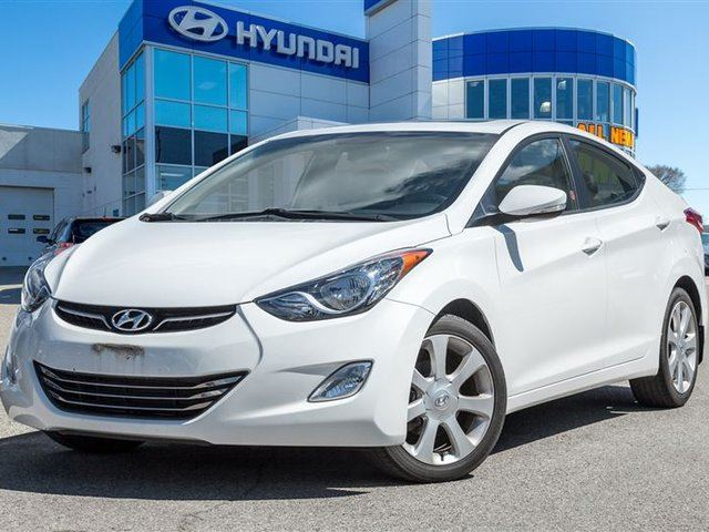 2013 Hyundai Elantra Limited, SUNROOF, LEATHER, ONE OWNER in Mississauga, Ontario