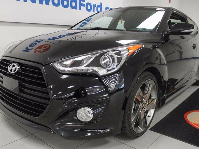 2015 HYUNDAI VELOSTER Turbo with NAV, sunroof, back up cam, heated seats! Be a monster in our black veloster in Edmonton, Alberta