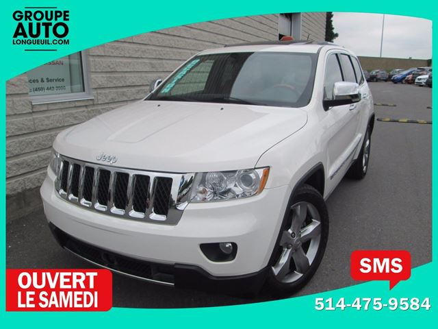 2012 JEEP GRAND CHEROKEE OVERLAND*4X4*CUIR CARAMEL*NAVIGATION*8 ROUES* in Longueuil, Quebec