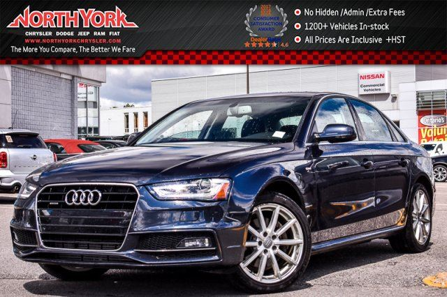 2016 AUDI A4 Progressiv Plus Quattro SLineComp,NavPlusPkgs Sunroof 18Alloys  in Thornhill, Ontario