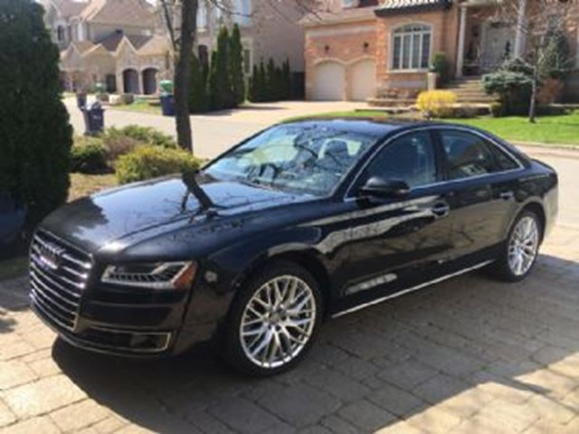 2015 Audi A8 3.0 TFSI quattro, Extended Warranty, Drivers Assistance Pack in Mississauga, Ontario