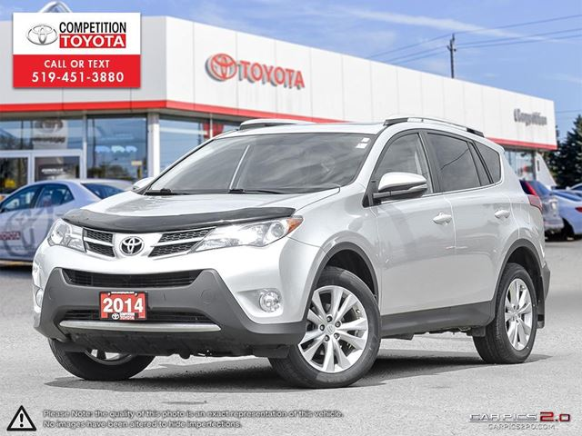 2014 TOYOTA RAV4 Limited One Owner, No Accidents, Toyota Serviced in London, Ontario