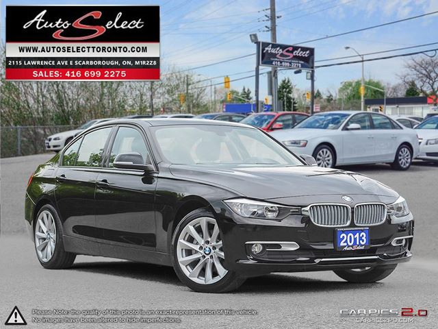 2013 BMW 3 SERIES xDrive AWD ONLY 97K! **CLEAN CARPROOF** MODERN PKG in Scarborough, Ontario