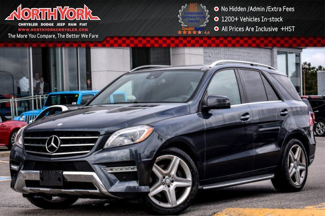2013 MERCEDES-BENZ M-CLASS ML350 BlueTEC 4Matic Nav Pano_Sunroof H/K Audio Blind Spot 20Alloys in Thornhill, Ontario