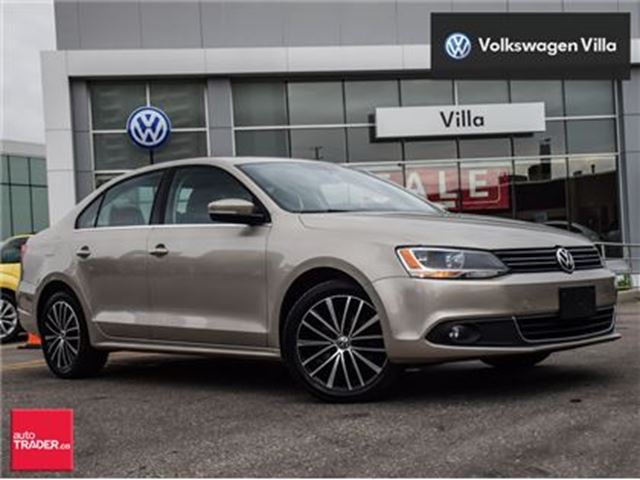 2013 VOLKSWAGEN Jetta 2.5L Highline (A6). Roof, leather, no accidents in Thornhill, Ontario