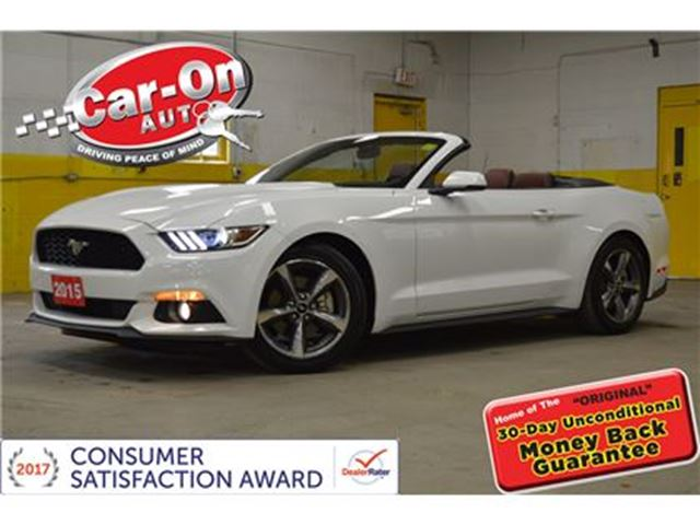 2015 Ford Mustang Premium CONVERTIBLE LEATHER LOADED ONLY 9000KM in Ottawa, Ontario