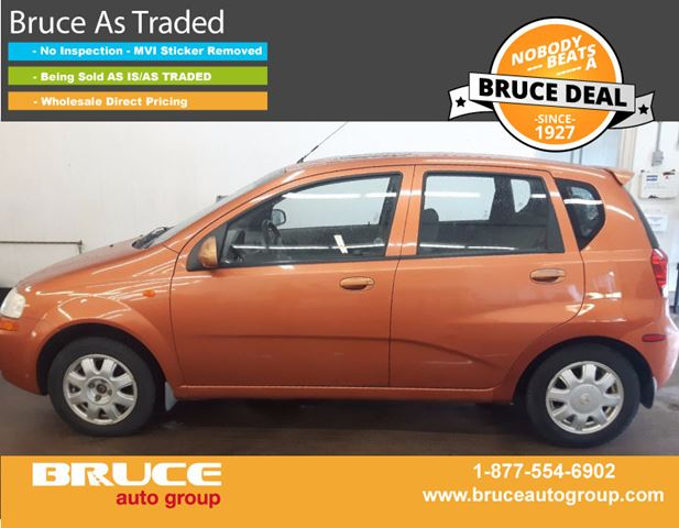 2004 Chevrolet Aveo LS 1.6L 4 CYL AUTOMATIC FWD 5D HATCHBACK in Middleton, Nova Scotia