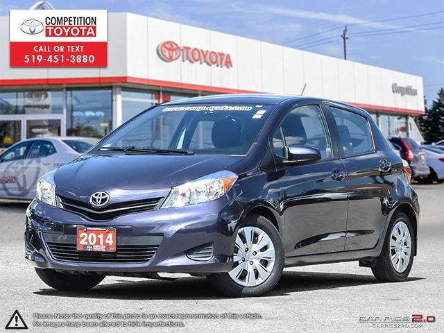 2014 TOYOTA Yaris LE One Owner, No Accidents, Toyota Serviced in London, Ontario