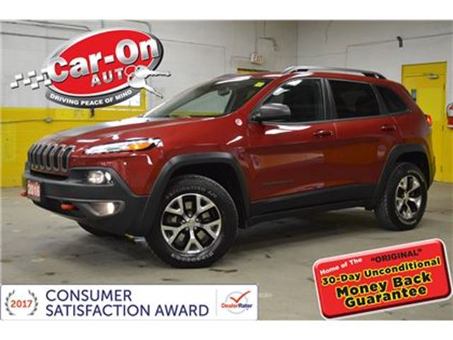 2016 JEEP CHEROKEE Trailhawk 4X4 LEATHER ALLOYS LOADED in Ottawa, Ontario