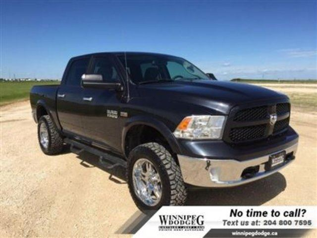 2013 DODGE RAM 1500 Outdoorsman Crew 4x4 w/DVD *Lifted w/Rims* in Winnipeg, Manitoba