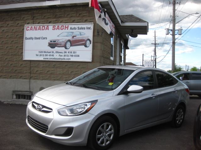 2013 Hyundai Accent  6SP/PWR/AC, 12M.WRTY+SAFETY $5990 in Ottawa, Ontario