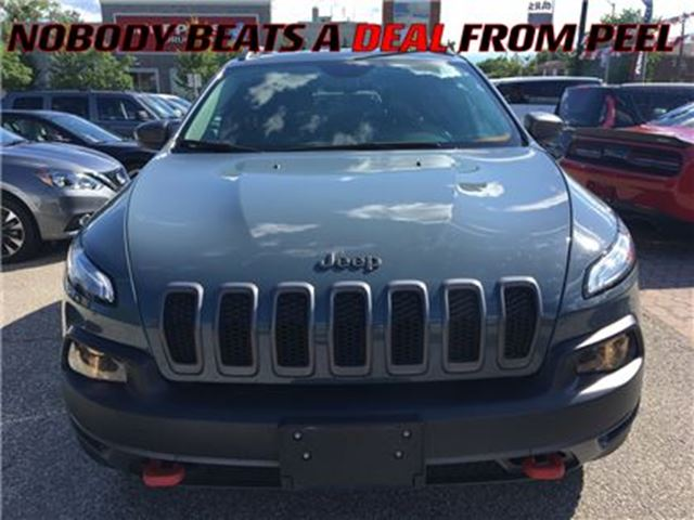 2015 JEEP CHEROKEE Trailhawk**NAV**PANORAMIC ROOF**LEATHER** in Mississauga, Ontario
