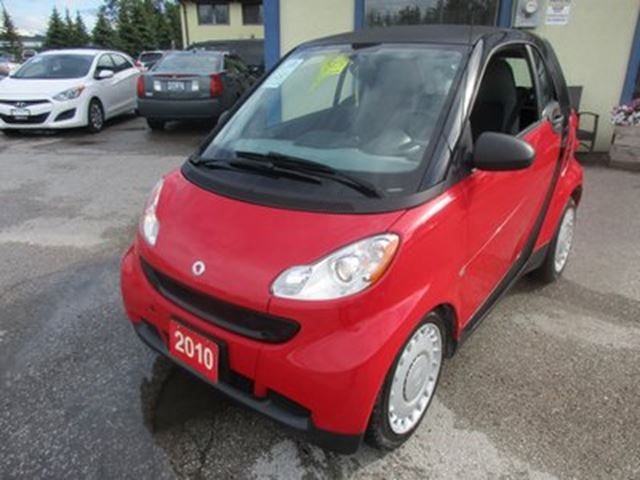 2010 Smart Fortwo FUEL EFFICIENT 'PURE MODEL' 2 PASSENGER 1.0L -  in Bradford, Ontario