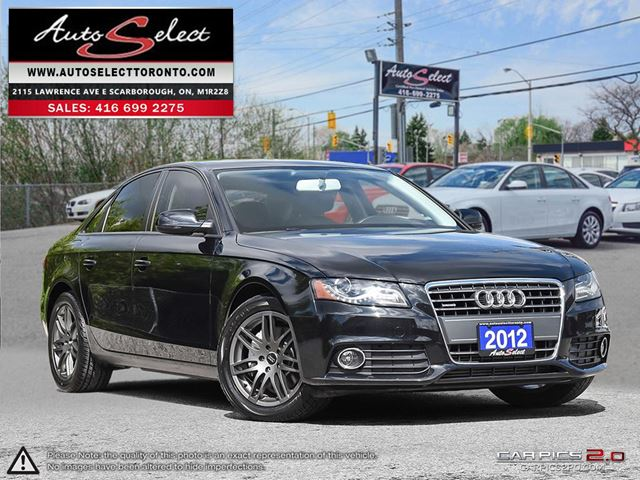 2012 Audi A4 Quattro ONLY 49K! **CLEAN CARPROOF** CLEAN CARPROOF in Scarborough, Ontario