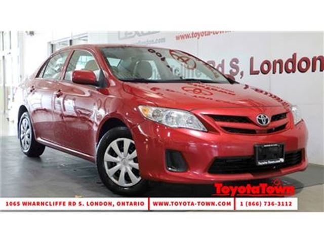 2013 Toyota Corolla SINGLE OWNER CE HEATED SEATS & POWER WINDOWS in London, Ontario