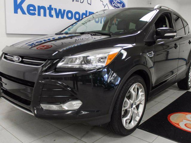 2014 Ford Escape Titanium 4WD ecoboost with NAV, sunroof, heated leather seats, back up cam and all you could wish for in Edmonton, Alberta