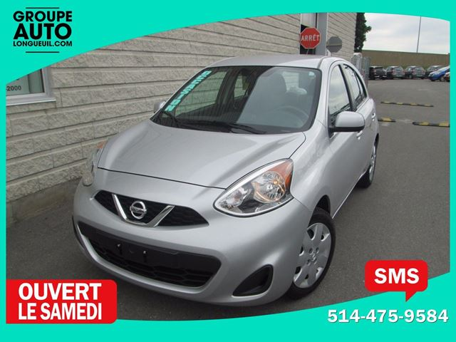 2015 Nissan Micra *SV*AUTOM*A/C*BASKILO*SILVER* in Longueuil, Quebec