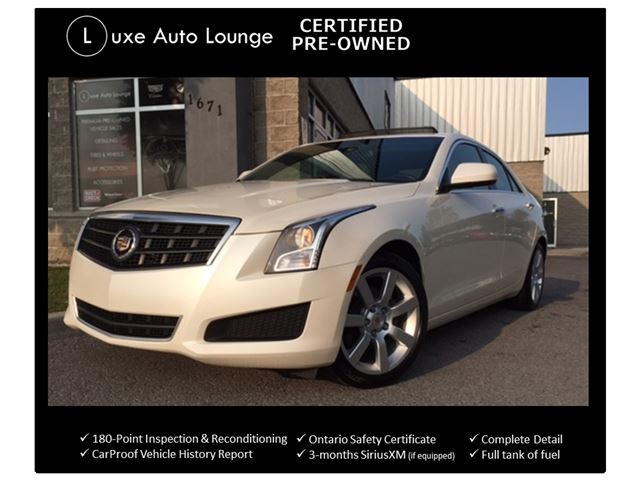 2014 CADILLAC ATS LOADED!! SUNROOF, BOSE AUDIO, POWER HEATED SEATS, SATELLITE RADIO, LUXE CERTIFIED PRE-OWNED & BALANCE OF CADILLAC WARRANTY!! in Orleans, Ontario