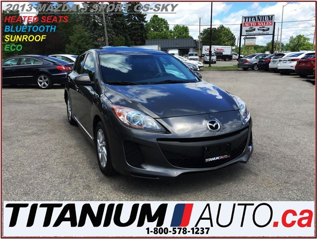 2013 MAZDA MAZDA3 Sport GS+Sunroof+Heated Seats+BlueTooth+Skyactiv in London, Ontario