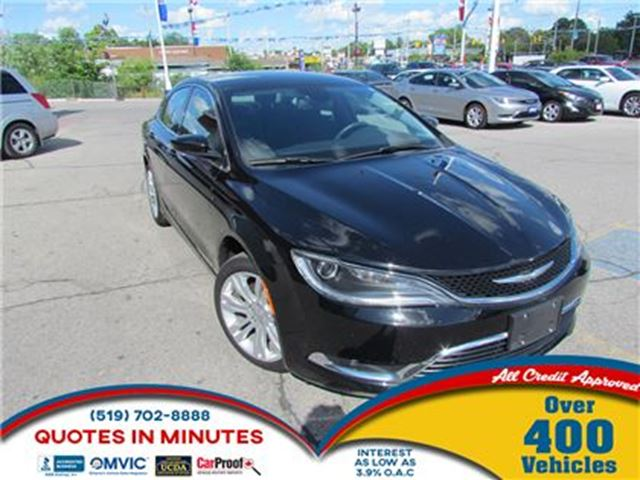 2015 CHRYSLER 200 LIMITED   SAT RADIO   BACKUP CAM   NAV in London, Ontario
