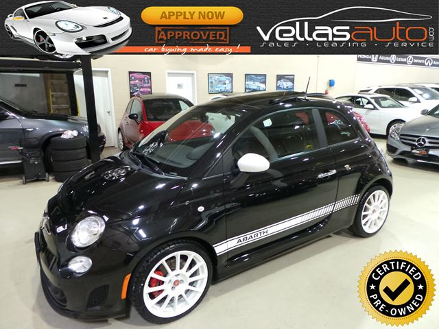 2012 FIAT 500 Abarth ABARTH| PANO RF| LTHR| 5SPD in Vaughan, Ontario