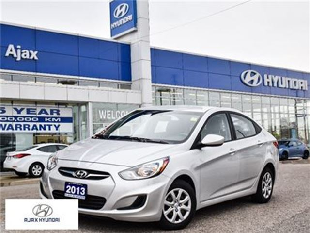 2013 HYUNDAI Accent GL Heated Front Seats   Hyundai Select Vehicle in Ajax, Ontario