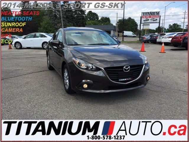 2014 MAZDA MAZDA3 Sport GS+GPS+Camera+Sunroof+Heated Seats+Fog Light in London, Ontario