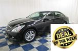 2012 Infiniti G25 Luxury/LEATHER/HTD SEATS/ACCIDENT FREE in Winnipeg, Manitoba