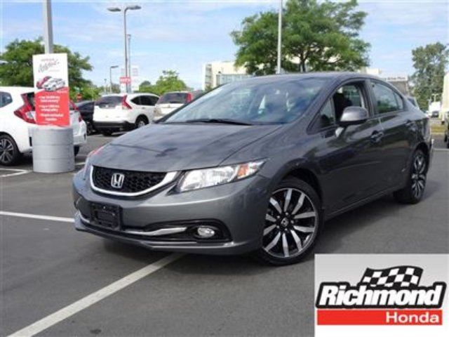 2013 HONDA Civic Touring! Honda Certified Extended Warranty to 160, in Richmond, British Columbia